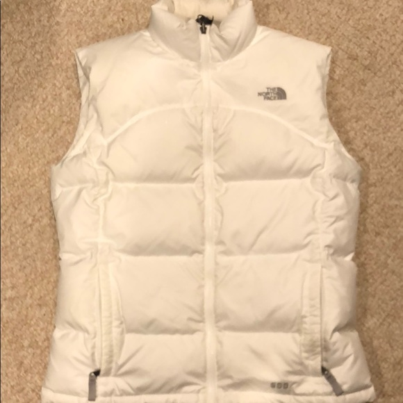 6931df489 The North Face girls XL white down vest